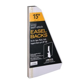 LINECO LINECO SELF-STICK EASEL BACKS WHITE 15 INCH 25/PK