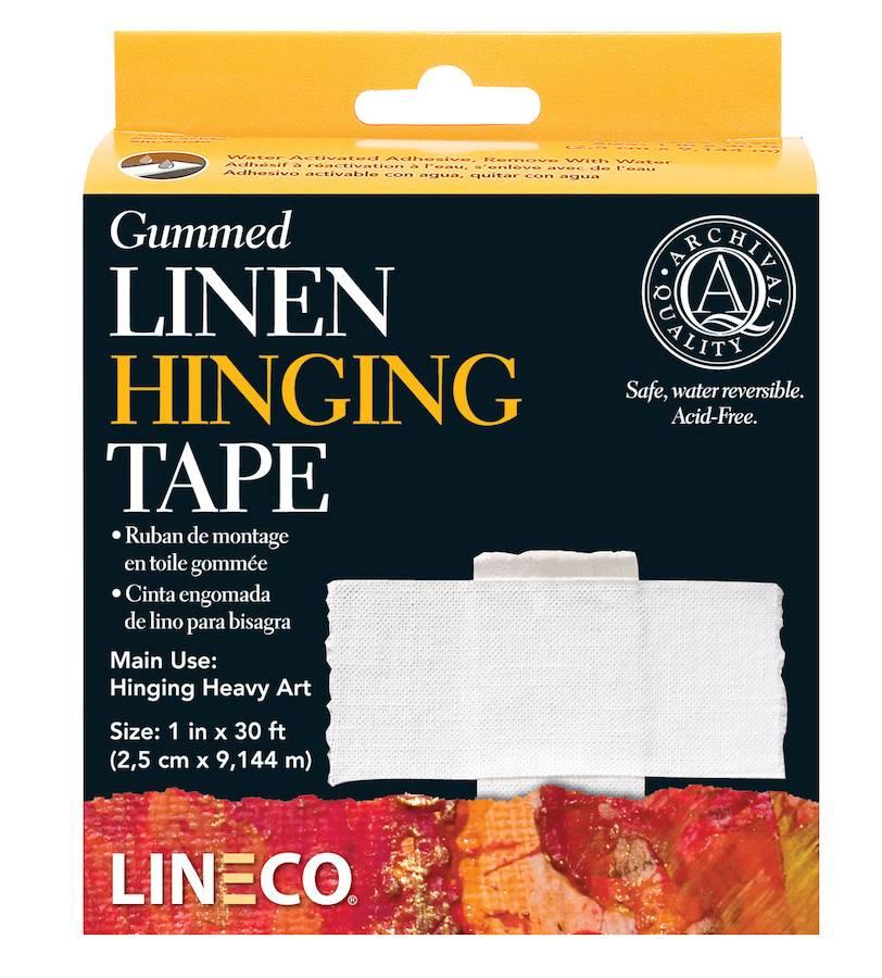 LINECO LINECO GUMMED LINEN HINGING TAPE 1''X30'    L533-1025