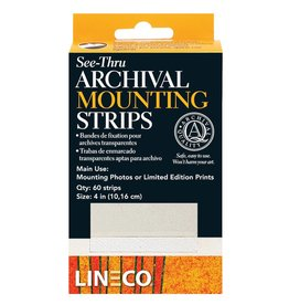 LINECO LINECO SEE-THRU ARCHIVAL MOUNTING STRIPS    L533-4015