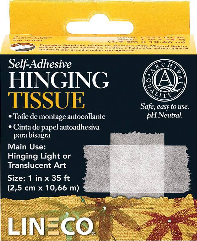 """LINECO LINECO SELF ADHESIVE MOUNTING/HINGING TISSUE 1""""X35'    L533-0125"""