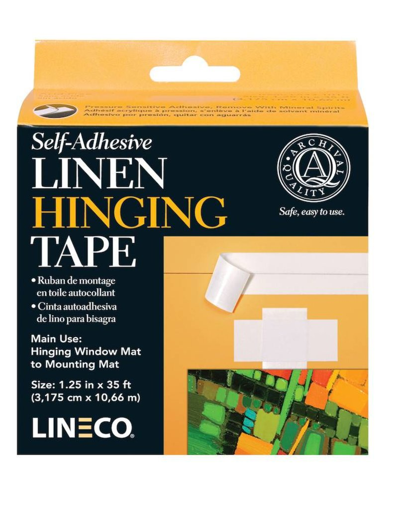 LINECO LINECO SELF ADHESIVE LINEN HINGING TAPE WHITE 1.25''X35'    L533-1015