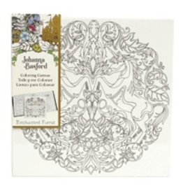 ART ALTERNATIVES JOHANNA BASFORD COLORING CANVAS 12X12 UNICORN