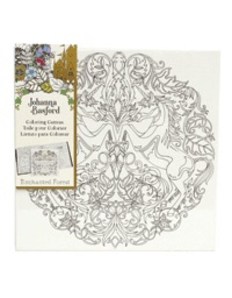 ART ALTERNATIVES JOHANNA BASFORD COLORING CANVAS 12X12 UNICORN