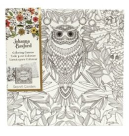 ART ALTERNATIVES JOHANNA BASFORD COLORING CANVAS 12X12 OWL