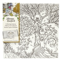 ART ALTERNATIVES JOHANNA BASFORD COLORING CANVAS 12X12 OWL IN TREE