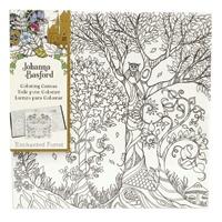 ART ALTERNATIVES JOHANNA BASFORD COLORING CANVAS 12X12 OWL IN TREE
