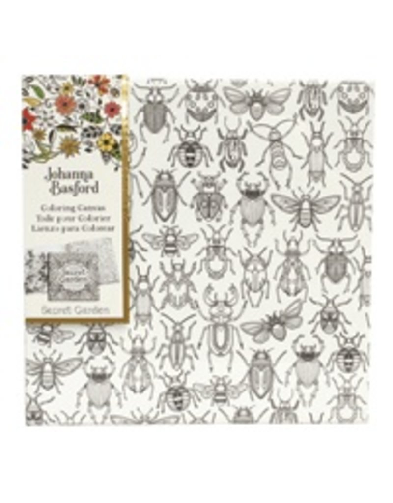 ART ALTERNATIVES JOHANNA BASFORD COLORING CANVAS 12X12 BUGS