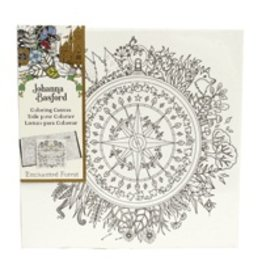 ART ALTERNATIVES JOHANNA BASFORD COLORING CANVAS 12X12 COMPASS