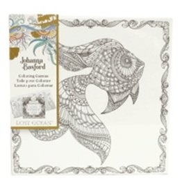 ART ALTERNATIVES JOHANNA BASFORD COLORING CANVAS 12X12 GOLDFISH