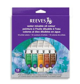 REEVES REEVES WATER MIXABLE OIL TUBE SET/18 10ML    8200201