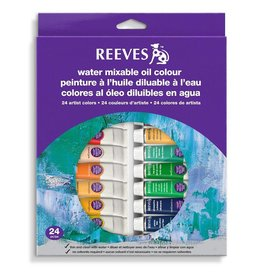 REEVES REEVES WATER MIXABLE OIL TUBE SET/24 10ML    8200202