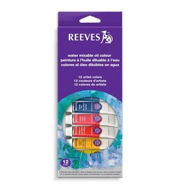 REEVES REEVES WATER MIXABLE OIL TUBE SET/12 10ML    8200200