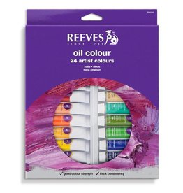 REEVES REEVES OIL COLOUR TUBE SET/24 10ML    8594302