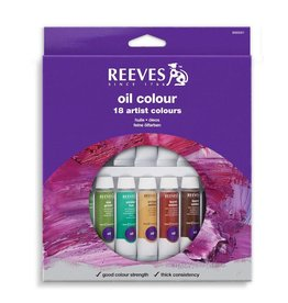 REEVES REEVES OIL COLOUR TUBE SET/18 10ML    8594301