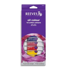 REEVES REEVES OIL COLOUR TUBE SET/12 10ML    8594300
