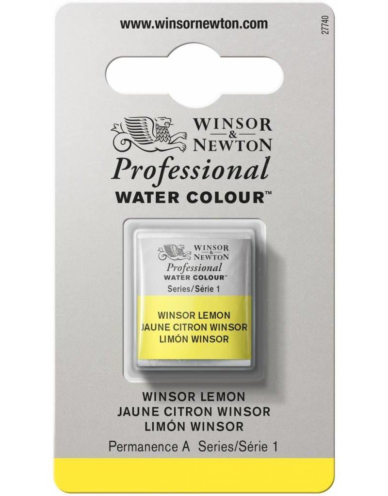 WINSOR NEWTON WINSOR & NEWTON PROFESSIONAL WATERCOLOUR WINSOR LEMON HALF PAN