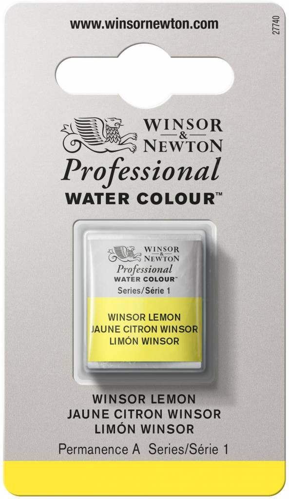 WINSOR NEWTON WINSOR & NEWTON PROFESSIONAL WATERCOLOUR WINSOR LEMON HALF PAN