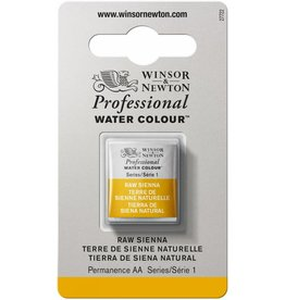 WINSOR NEWTON WINSOR & NEWTON PROFESSIONAL WATERCOLOUR RAW SIENNA HALF PAN