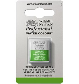 WINSOR NEWTON WINSOR & NEWTON PROFESSIONAL WATERCOLOUR PERMANENT SAP GREEN HALF PAN