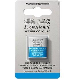 WINSOR NEWTON WINSOR & NEWTON PROFESSIONAL WATERCOLOUR MANGANESE BLUE HUE HALF PAN