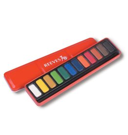 REEVES REEVES WATERCOLOUR PAN SET/12 RED TIN    4791380