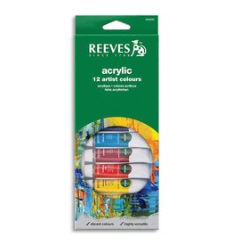 REEVES REEVES ACRYLIC TUBE SET/12 10ML    8493200