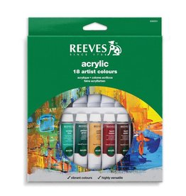 REEVES REEVES ACRYLIC TUBE SET/18 10ML    8493201