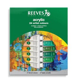 REEVES REEVES ACRYLIC TUBE SET/24 10ML    8493202