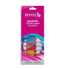 REEVES REEVES GOUACHE TUBE SET/12 10ML    8793350