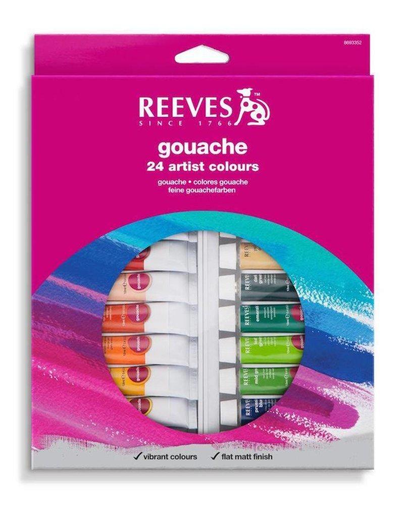 REEVES REEVES GOUACHE TUBE SET/24 10ML    8793352