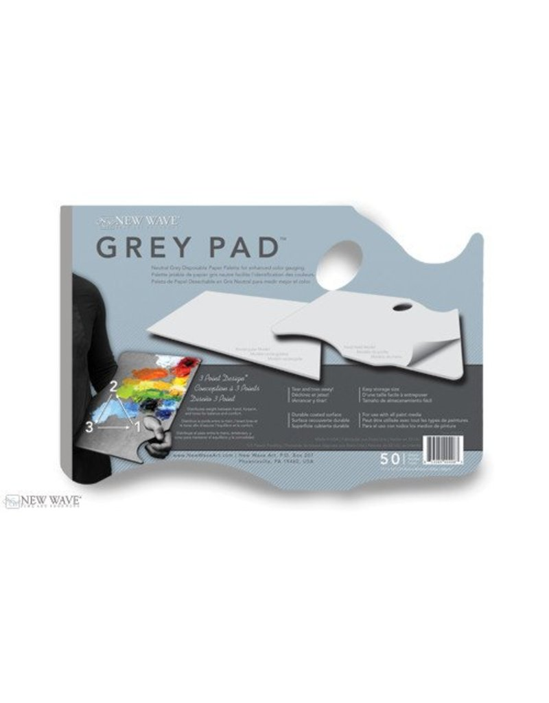 NEW WAVE ART NEW WAVE PAPER PALETTE GREY 11X16 HAND HELD MODEL