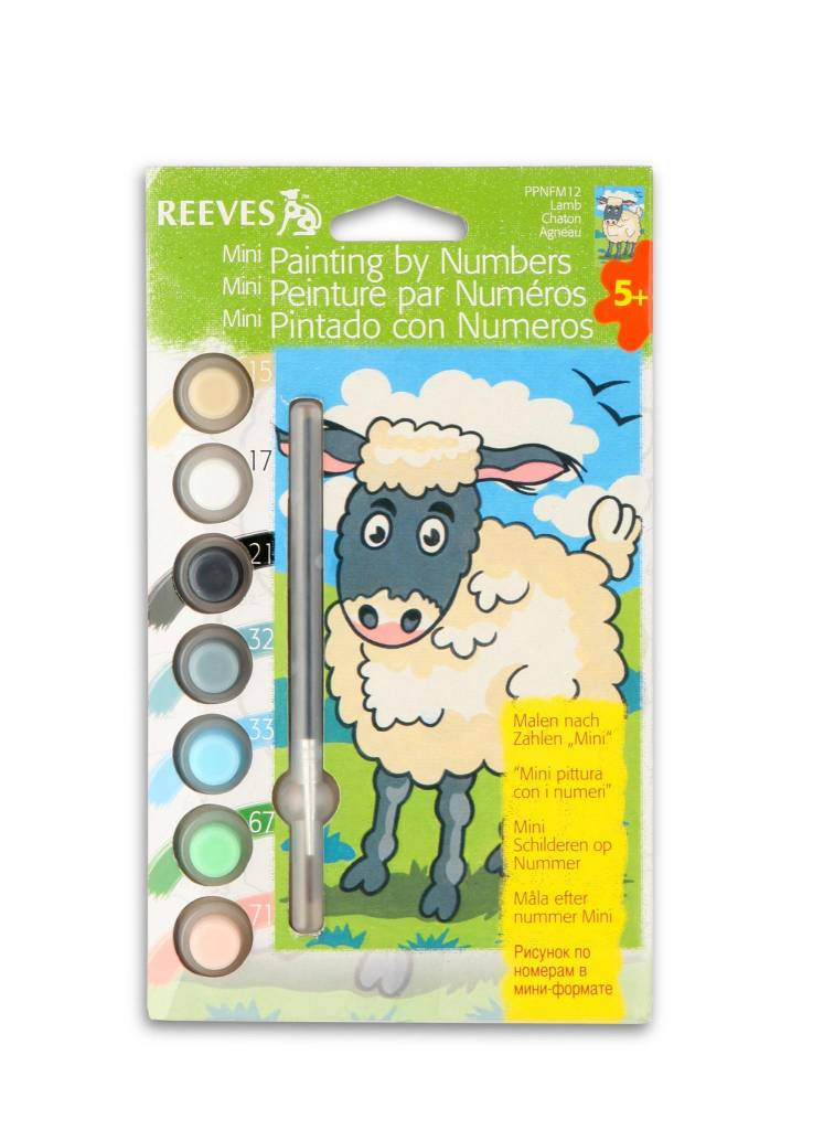 REEVES REEVES MINI PAINTING BY NUMBERS LAMB    DISC