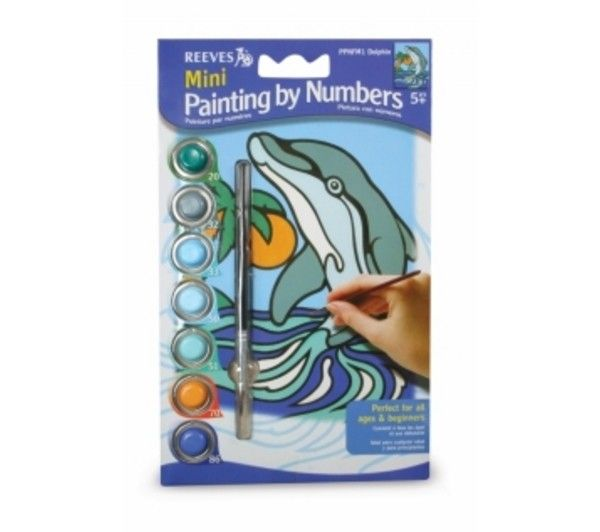REEVES REEVES MINI PAINTING BY NUMBERS DOLPHIN    DISC