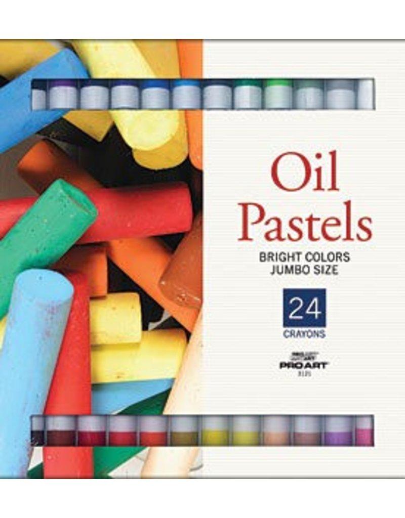 PRO ART PRO ART JUMBO OIL PASTEL SET/24