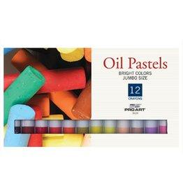 PRO ART PRO ART JUMBO OIL PASTEL SET/12