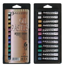 Mungyo MUNGYO OIL PASTEL SET/12 METALLIC