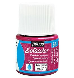 PEBEO SETACOLOR OPAQUE SHIMMER ORIENTAL RED 45ML