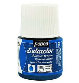 PEBEO SETACOLOR OPAQUE SHIMMER ELECTRIC BLUE 45ML