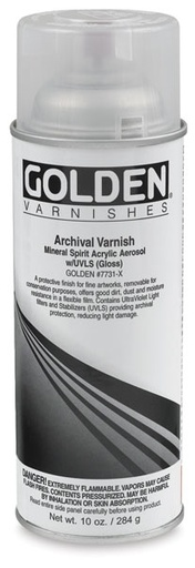 GOLDEN GOLDEN MSA ARCHIVAL SPRAY VARNISH GLOSS 12OZ    17731