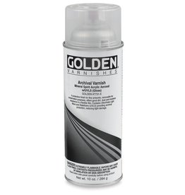 GOLDEN GOLDEN MSA ARCHIVAL SPRAY VARNISH SATIN UVLS 12OZ    17736