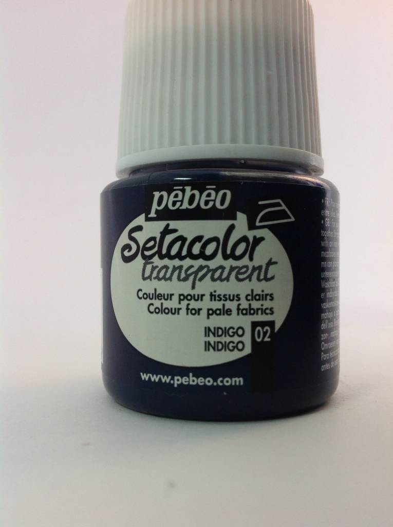 PEBEO SETACOLOR TRANSPARENT INDIGO 45ML