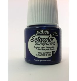 PEBEO SETACOLOR TRANSPARENT ULTRAMARINE BLUE 45ML