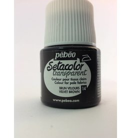 PEBEO SETACOLOR TRANSPARENT VELVET BROWN 45ML