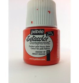 PEBEO SETACOLOR TRANSPARENT BRIGHT ORANGE 45ML