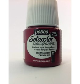 PEBEO SETACOLOR TRANSPARENT ORIENTAL RED 45ML