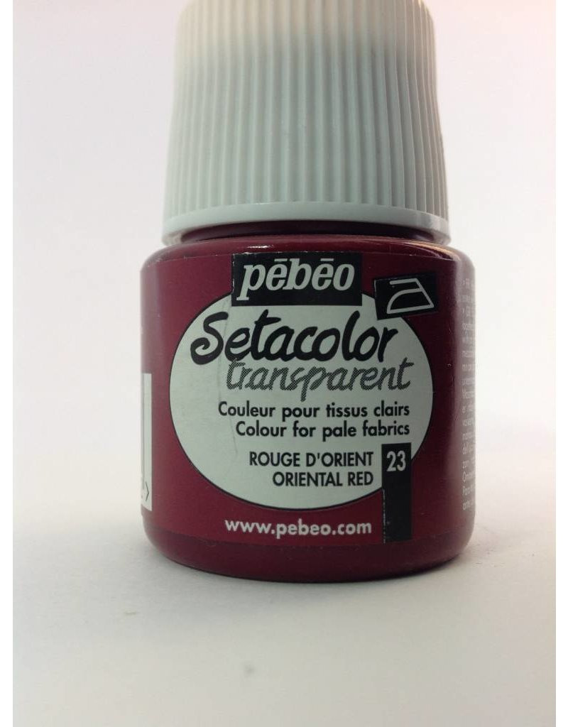 PEBEO SETACOLOR TRANSPARENT ORIENTAL RED 45ML
