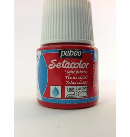 PEBEO SETACOLOR TRANSPARENT CARDINAL RED 45ML