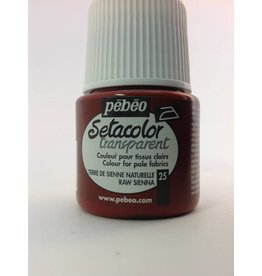 PEBEO SETACOLOR TRANSPARENT RAW SIENNA 45ML
