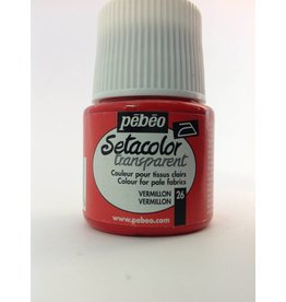 PEBEO SETACOLOR TRANSPARENT VERMILLION 45ML
