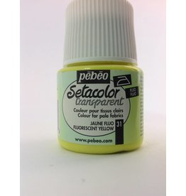 PEBEO SETACOLOR TRANSPARENT FLUORESCENT YELLOW 45ML